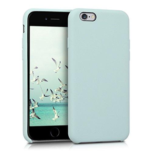 kwmobile-custodia-case-in-silicone-con-rivestimento-in-gomma-per-apple-iphone-6-6s-in-menta-opaco
