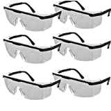 VlugTXcJ Occhialini da Nuoto 6pcs Occhiali protettivi di Sicurezza Occhiali di Sicurezza con Black Lenti incolori Occhiali protettivi per Le attività Esterne