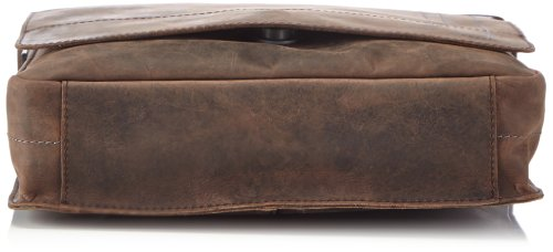 Strellson Richmond Messenger MV 4010001164 Herren Umhängetaschen 30x31x8 cm (B x H x T), Schwarz (black 900) Braun (dark brown 702)