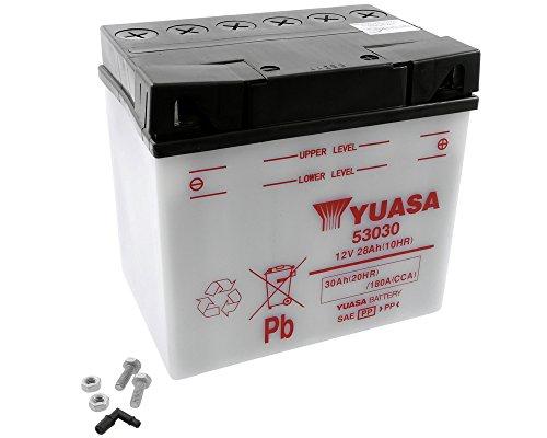 Batteria YUASA - 53030 per MOTO GUZZI Nevada N.T 650 ccm anno 94-98