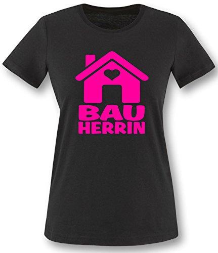 Luckja Bauherrin   Ideales Geschenk auch als Kombination für de Bauherrn   Damen T-Shirt