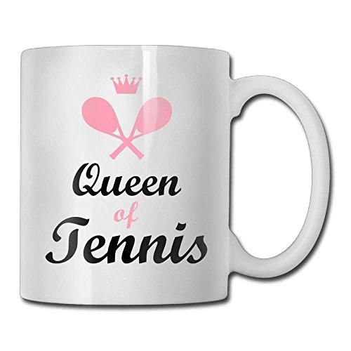 lilihome Tennis Queen Custom Coffee Mug 11 oz Women Love Ceramic Gifts Tea Cup