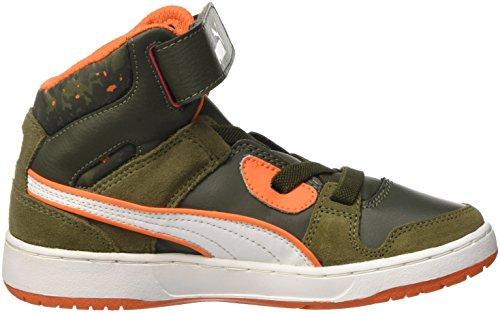Puma Rebound Str Wcamo Ps, Sneaker Unisex – Bambini Verde (Burnt Olive/Forest Night/Bianco/Vermillion Arancione)