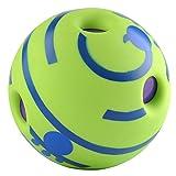 Roofeel Oscillare Wag Giggle Palla Cane Gioca A Palla Allenamento Sport Giocattoli per Animali Domestici con Divertenti Cuccioli di Animali Domestici Giocattoli da Masticare (Verde)