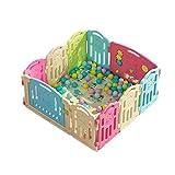 Kind-Spiel-Zaun, Innenspielplatz-Haushalts-Sicherheits-Schutzzaun-Baby-Säuglings-Kriechen, Das Lernt, Zaun 37.5-75CM zu Gehen (Farbe : 10pcs)