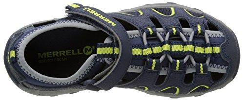 Merrell H20 Hiker Unisex-Kinder Outdoor Fitnessschuhe Blau (Navy/Lime)