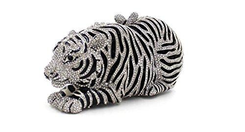 WYB Europäischen und amerikanischen Luxus voller Diamanten Abendtasche Tiger / Abend-Beutel-hochwertige Hand color 2