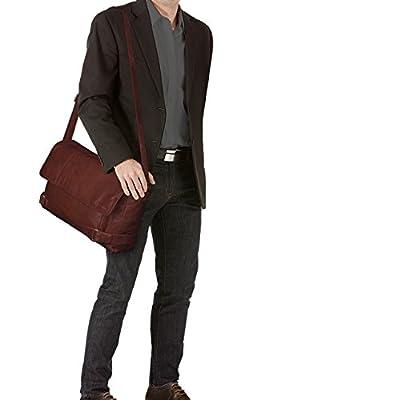 STILORD 'Luca' Vintage Sac Besace Sac en bandoulière 15.6 pouces bureau loisirs hommes femmes Serviette en cuir