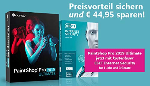 PaintShop Pro 2019 Ultimate inklusive ESET InternetSecurity 1J / 3 Geräte