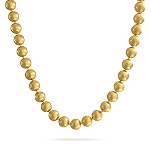 Bling Jewelry Crystal 12mm Golden Simulated Pearl Necklace Rhodium Plated