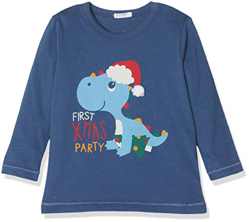 United Colors of Benetton T-Shirt L/s, Camiseta Bebé-Niños, Azul (Air Force Blue...