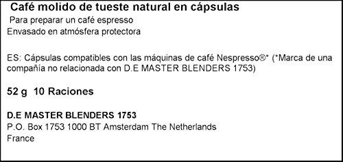 41%2BMLyZz%2BdL L'Or - Capsule Caffè Espresso Onyx - Compatibili con Macchine Nespresso - 10 Capsule in Alluminio - Intensità 12