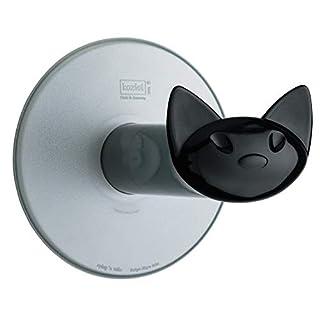 koziol WC-Rollenhalter Miaou, Kunststoff, transparent anthrazit mit schwarz, 13,2 x 12,7 x 12,7 cm