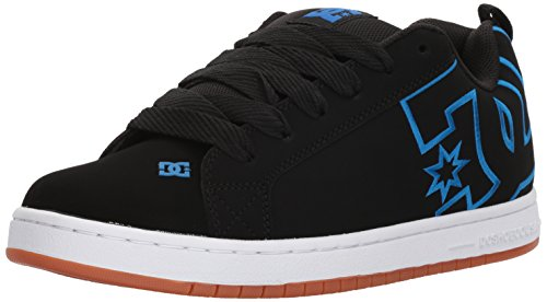 DC Shoes Mens Court Graffic Low Top Shoes Black/Black/Blue