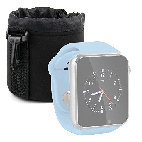 DURAGADGET Bolsa Negra para Reloj YuanGuo® | Smarter® | Smartlife YG8 | Stoga ST-DM360 | Turnmeon | Viwel | VOSMEP - Ligero para Transportar