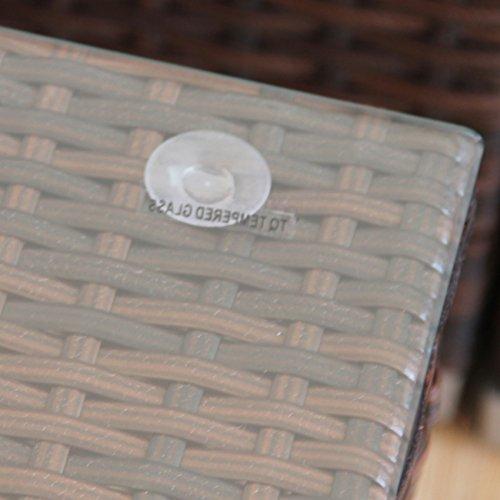Svita Lugano POLY RATTAN Lounge Garten-Set XXL Sofa-Set Garnitur Gartenmöbel Couch-Set (XXL, Braun) - 6