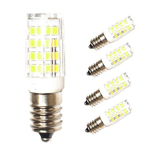 lampaous E14LED Leuchtmittel Entspricht 40W, 5W 400LM Kleine Edison-Schraube Cool weiß Dunstabzugshaube LED Leuchtmittel, 360° Abstrahlwinkel, nicht dimmbar, energiesparend SES Leuchtmittel, 4Stück