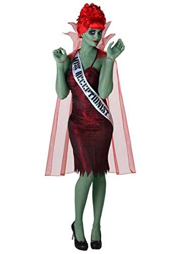 Plus Size Miss Dead Receptionist Fancy Dress Costume