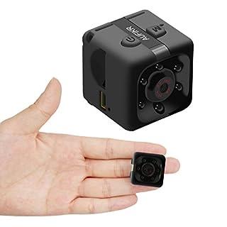 Aufikr Mini Camera Sports HD DV Camera 1080P Portable Tiny Video Camera with IR Night Vision & Motion Detection, Small Surveillance Camera for Home Office (Black)