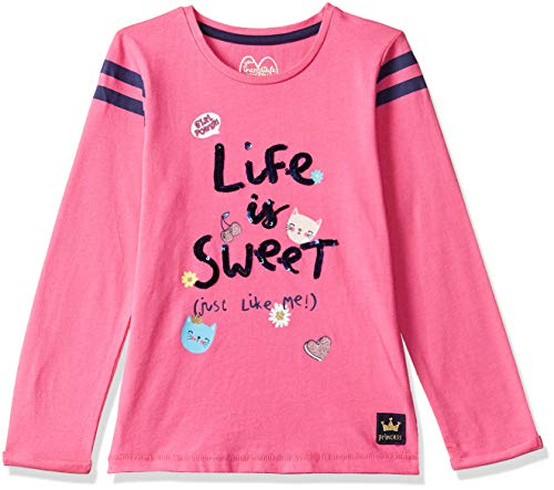 Mothercare Baby-Mädchen Langarmshirt Long Sleeve PINK Sweet Tee Rose 6-9 Monate (Hersteller Größe: 74) -