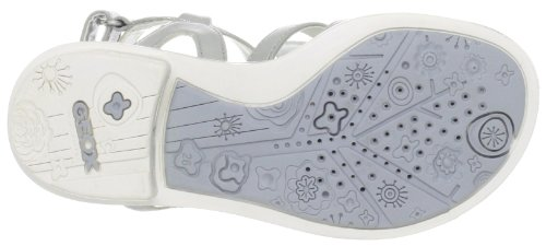 Geox J Sand.Giglio H, Sandales filles Argent (C1007)
