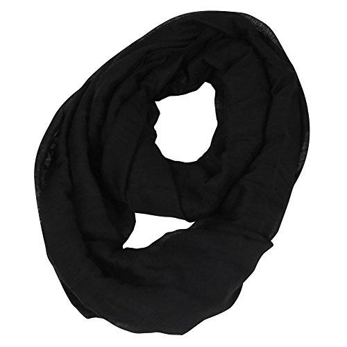 Cowl Neck Sheer (San Bodhi Damen Schal Gr. Einheitsgröße, schwarz)