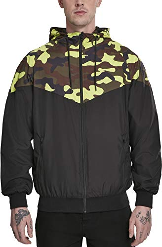 Urban Classics Herren Pattern Arrow Windrunner Jacke Black/frozenyellow camo XL Camo-jacke