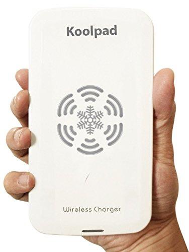 Weisses Koolpad Qi Wireless-Ladegerät-Pad für alle Qi-kompatiblen Geräte einschließlich Samsung Galaxy S8, S8+, S7, S7 Edge, S6, S6 Edge, S6 Edge + (Plus), Note 5, Nexus 4, 5, 6, 7, Moto 360 Watch, Google Pixel, Pixel XL mit UniQi, Samsung Galaxy S3, S4, S5, Note 3, Note 4, Alpha with PWRcard & SlimPWRcard, iPhone 7, 7 Plus, 6S, SE, 6S Plus, 6, 6 Plus, 5, 5C, 5S mit iQi Mobile, und andere Handys mit Qi-Empfängern