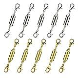 Juland 10 Stck Magnetisch Halskette Schließe Extender Armband Verschluss Extender mit Hummerhaken Gold- und Silberfarbton für Schmuck