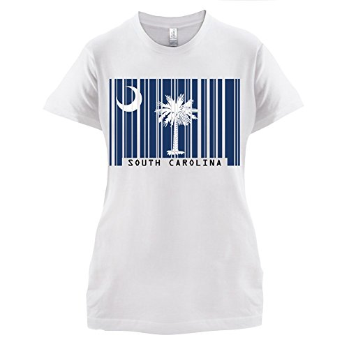 South Carolina Damen T-shirt (South Carolina / Süd-Carolina Barcode Flagge - Damen T-Shirt - Weiß - XXL)
