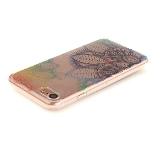 iPhone 7 Hülle,iPhone 7 Hülle Case,iPhone 7 Silikon Hülle [Kratzfeste, Scratch-Resistant], Cozy Hut iPhone 7 (4,7 Zoll) Hülle TPU Case Schutzhülle Silikon Crystal Kirstall Clear Case Durchsichtig, Far Fantasie-Blumen