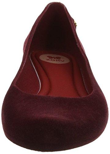Zaxy Damen Pop Flock 2 Ballerina Red (Berry)