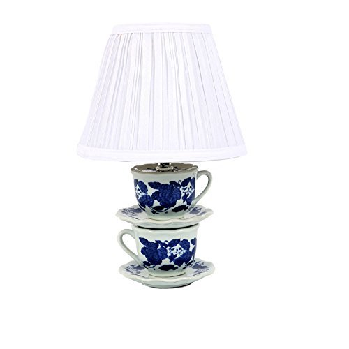 Dei Ceramic Stacked Teacup Lamp, 14by Dei