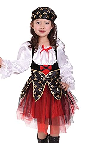 GIFT TOWER Déguisement Fille Pirate Caraïbe Halloween Cosplay Costume Pirate