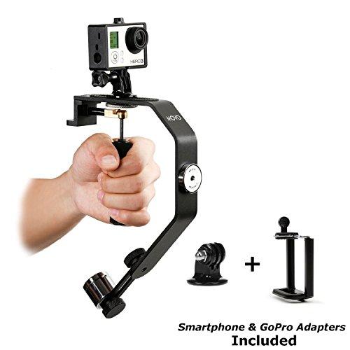 Movo Photo VS01-SP Handheld Video Stabilisierungssystem mit Gegengewicht für GoPro HERO, HERO2, HERO3, HERO3+, HERO4 and Apple iPhone 4, 4S, 5, 5S, 6, Samsung Galaxy S3, S4, S5, S6 Android Smartphones