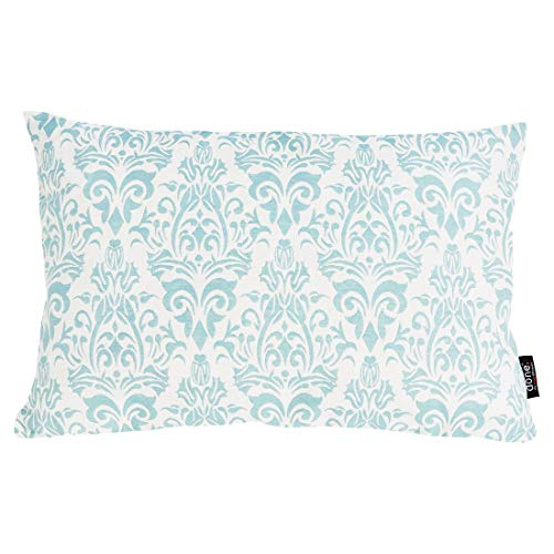 done Couchkissen Windsor Ornaments mit Motivdruck - Sofa Kissen incl. Füllkissen - Reißverschluss - 4 Farben - 40x60 cm, Farbe:Ornaments Mint (Mint-sofa-kissen)