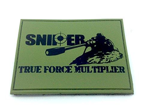 SNIPER True Force Multiplier Olive Drab PVC Klett Emblem - Olive Weste Paintball