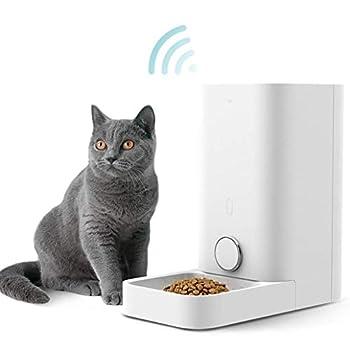 PETKIT Alimentateur Automatique pour Chat et Chien, Fonctionnement de l'application, Pas de Blocage, Distributeur d'aliments Intelligent pour Animaux de Compagnie, Scellé au Silicone (Blanc-2,8 L)