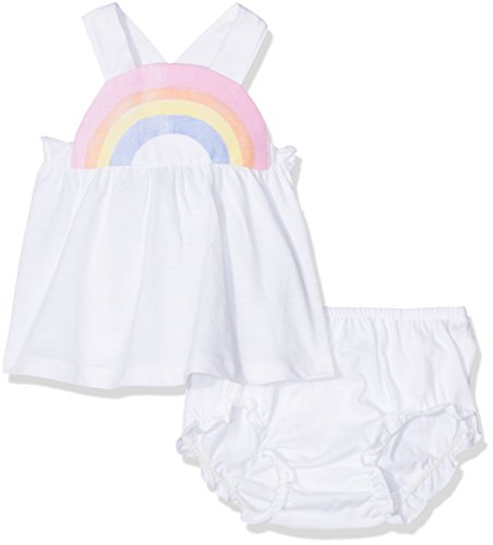 United Colors of Benetton United Colors of Benetton Baby-Mädchen Bekleidungsset Tank-top+Short Weiß (White) 6-9 Monate (Herstellergröße: 68)