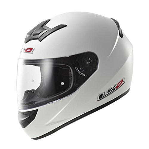 LS2 103521002L FF352 Casco Rookie Solid, Color Blanco, Tamaño L