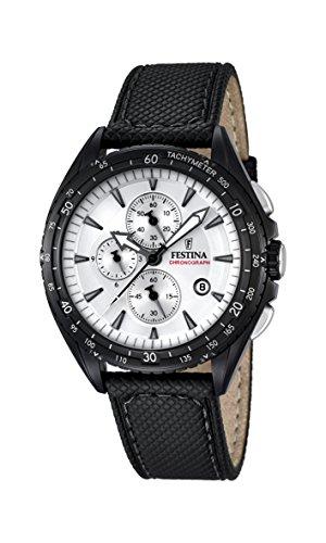 Festina Herren-Armbanduhr Analog Quarz Leder F16847/1