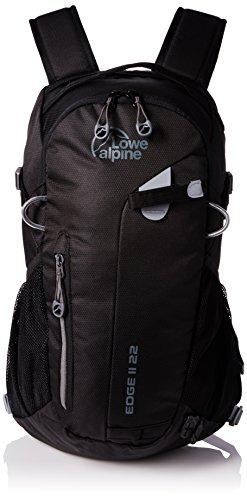 Lowe Alpine Rucksack Edge II 22 Large, Black, 50 x 27 x 22 cm, 22 Liter, FDP-50-BL (Lowe Wanderrucksack Alpine)