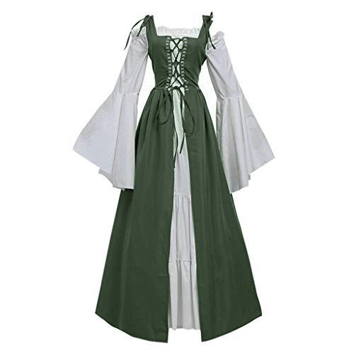 Kostüm Dieb Renaissance - UYSDF Fashion Kleidung Damen Bandage Korsett Renaissance Jahrgang Party Verein Elegante Kleid