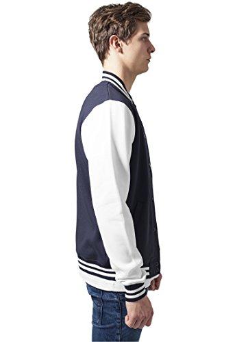 Urban Classics TB207 Herren Jacke Bekleidung 2 Tone College Sweatjacket marineblau/weiß