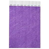 Lot de 100 bracelets papier tyvek 19mm pour événements, festivals - Indéchirable - 12 coloris disponible (Violet)