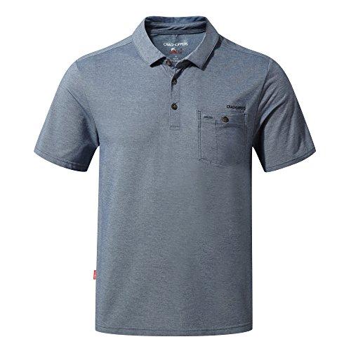 Craghoppers NosiLife Gilles Kurzarm Polo Shirt Men - Poloshirt blau/gestreift