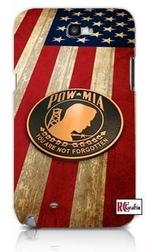 Pow MIA Prisoner Of War American Flag Apple Iphone 5 Quality TPU Soft Rubber Case for Iphone 5/5s - AT&T Sprint Verizon - White