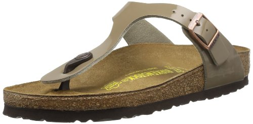 Birkenstock  Gizeh,  Damen clogs , beige - taupe - Größe: 40