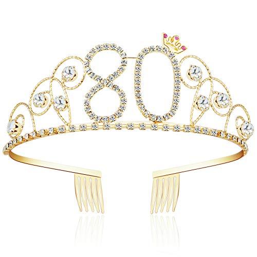 ArtiDeco Kristall Geburtstag Tiara Gold Birthday Crown
