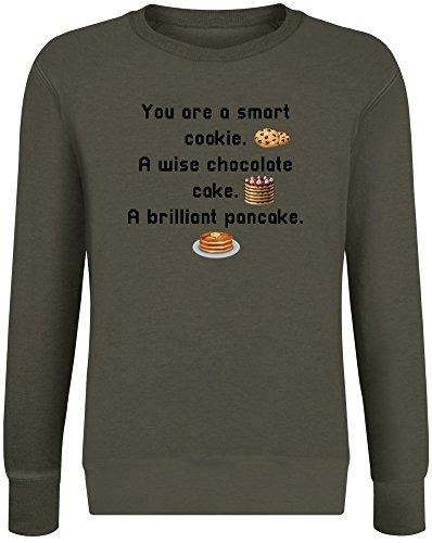 ookie Wise Schokolade EIN brillanter Pfannkuchen - You Are Smart As A Cookie Wise Chocolate A Brilliant Pancake Sweatshirt Jumper Pullover for Men & Women Soft Cotton & Polyester ()
